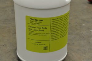 A jug of our Body Milk Base