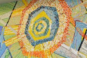 A mosaic sun.