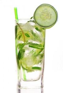 Cucumber mojito cocktail inspiration picture.