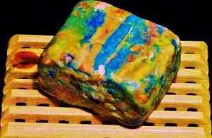 Danxia inspired mosaic soap.