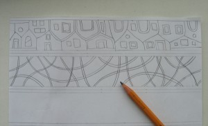 Drawing mosaic design.