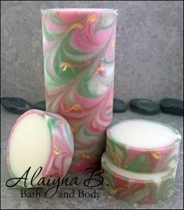 Champagne Rose Rimmed Soap by Alaiyna B. Bath & Body.