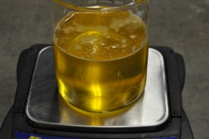 Weighing Jojoba Oil