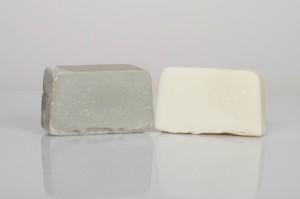 Cut bars of Great Salt Lake Brine Soap.