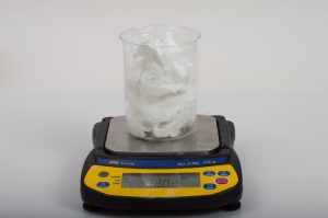 Weighing First Batch of White Melt and Pour Soap