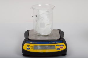 Weighing Second Batch of White Melt and Pour Soap