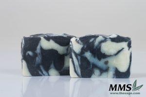 Cut bars of Black Licorice Soap.