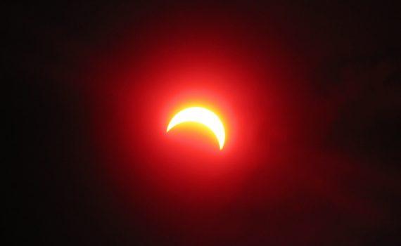 Partial solar eclipse, March 29, 2006.