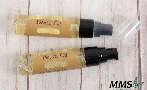 Finished bottles of Beard Oil.