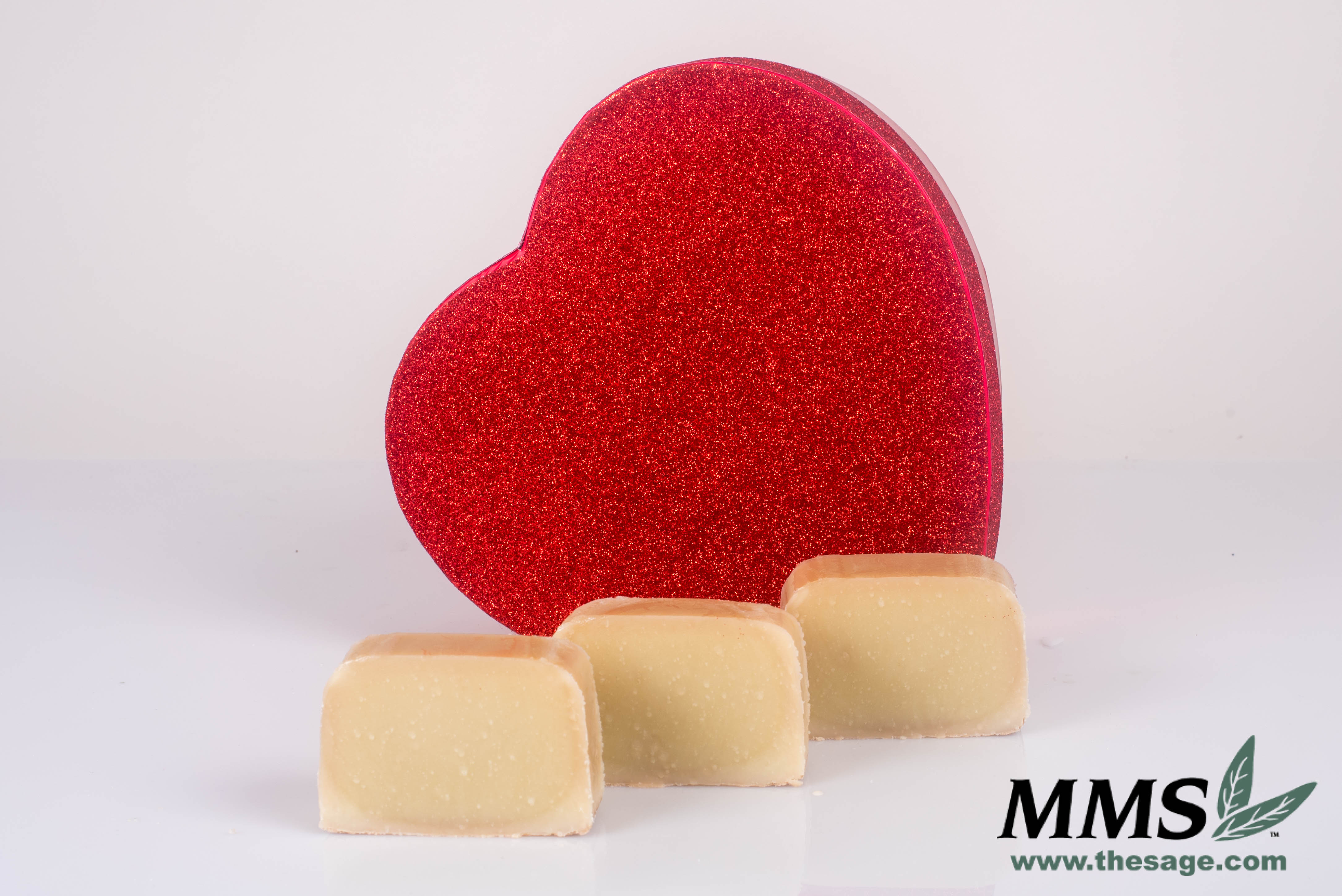 The Sweet Chocolate Mousse Soap right after cutting.