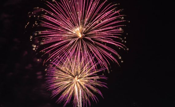 4th of July Fireworks in Logan, Utah.