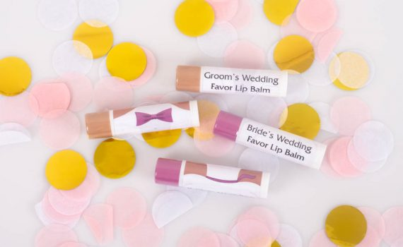 Easy favors for the happy couple.