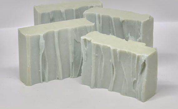 Cut bars of my Winter Sea Soap.