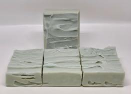 Cut bars of Winter Sea Soap.
