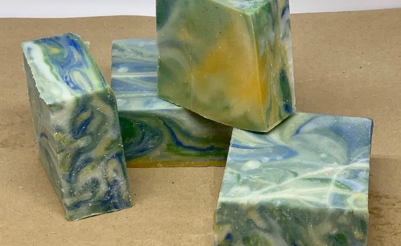 Finished bars of my Fingerpainting soap!