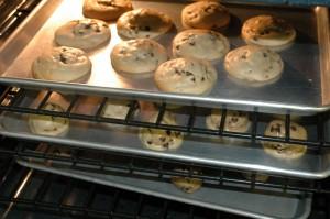 Cookies baking in the oven