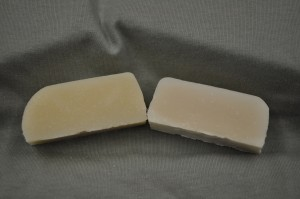 Bayberry fragrance oil on the left and control on the right.