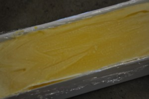 Finished Soap in Mold