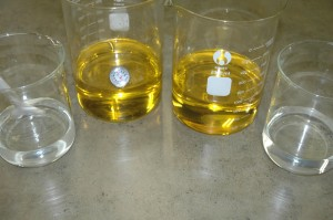 Melted Oils and Lye Solution