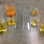Melted Oils and Lye Mixture