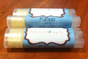 Mimosa Lip Balm from Baby Duck Soap Co.