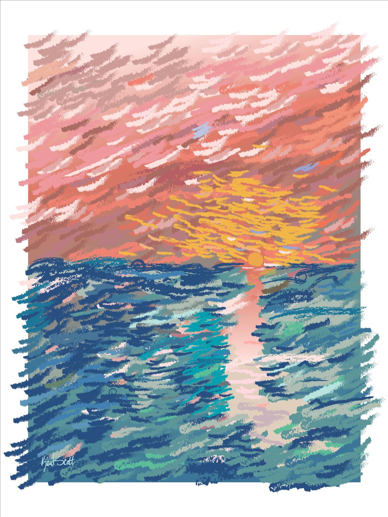 Impressionistic Post Card by Kent Scott