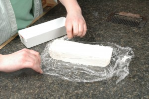 Unwrapping Monday's soap.