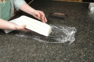 Pulling the plastic wrap off Monday's soap.