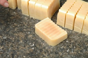 Close up of Tuesday's soap.