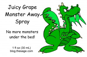 The Monster Away Spray design from our graphics department!