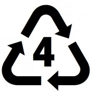 Recycling symbol for LDPE plastics
